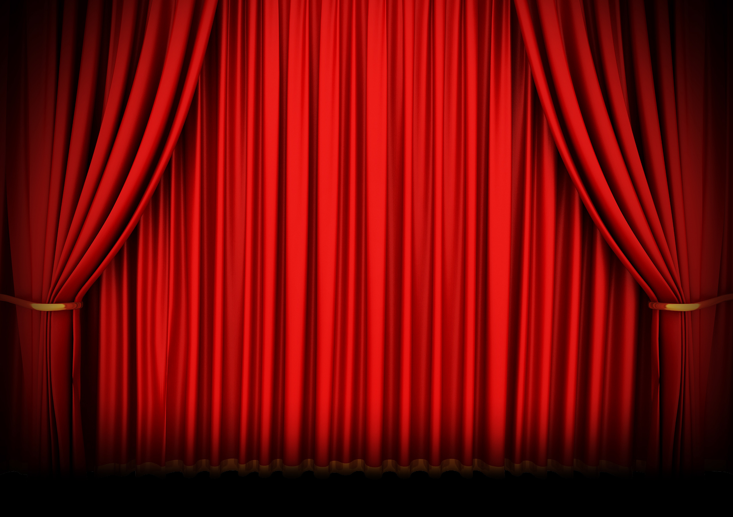 Closed theater curtains - Red Theater Curtain Isolated On White